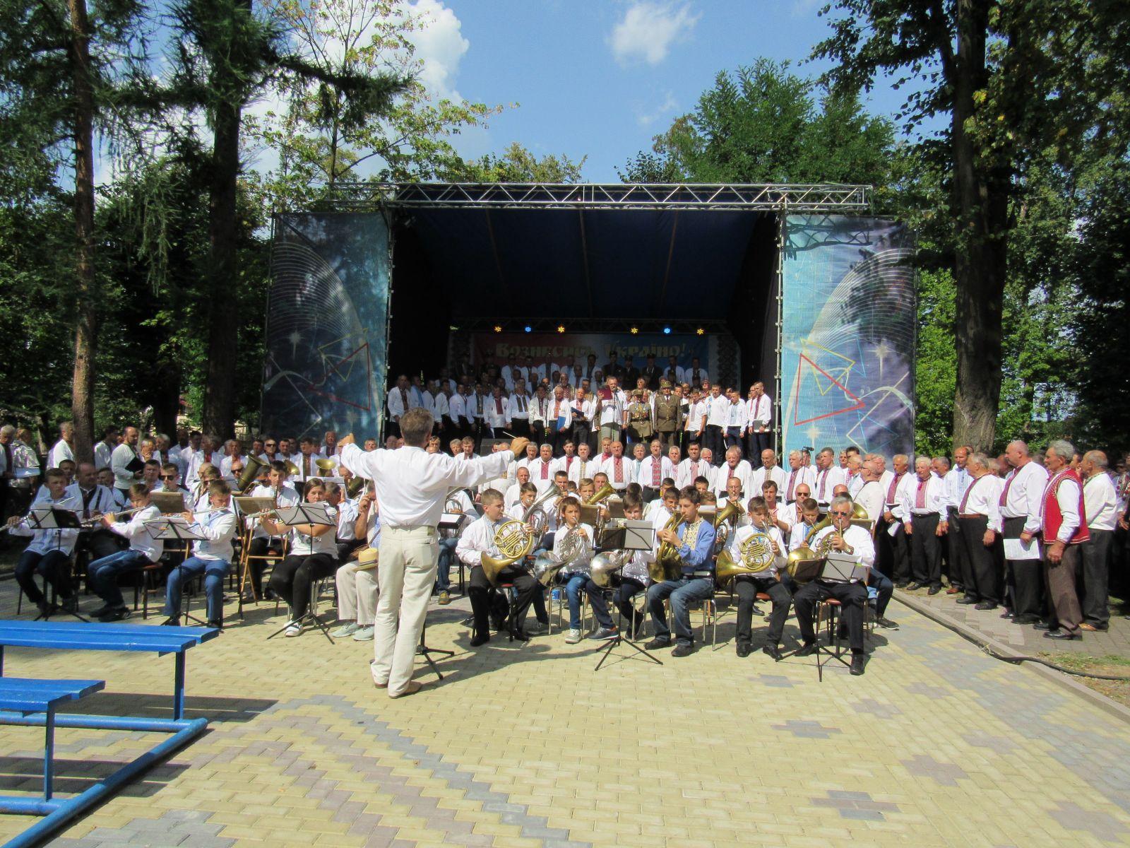 Фестиваль чоловічих хорів відбувся у Надвірній